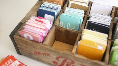 Vintage Storage | 3×4 journal cards