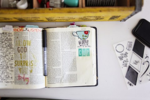Journaling Bible | Put it in the cup