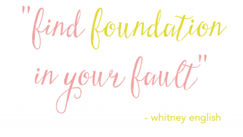 Reflect Sunday   Finding Foundation in Your Fault
