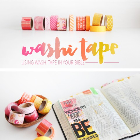 Using Washi Tape In Your Bible