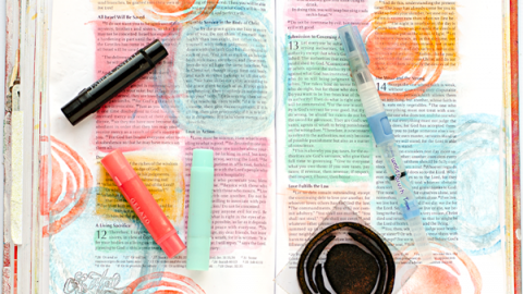 Heather Greenwood | Basics of using Gelatos In Your Journaling Bible