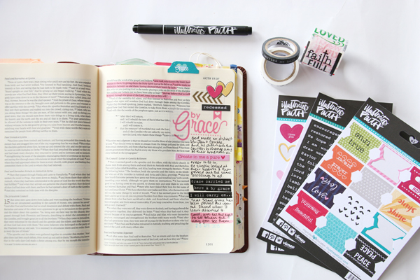 Natalie Elphinstone | personal testimony about grace using the Illustrated Faith Genesis Kit by Bella Blvd