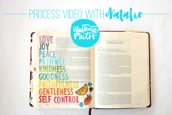 Natalie Elphinstone | Process Video using stamps, watercolors and embossing