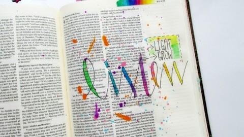 Tai Bender | Coloring In Handwriting and Splatters Process Video