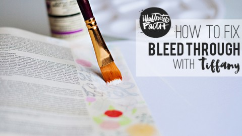 Tiffany Zajas | Fixing a Bled Through Page Using Gesso