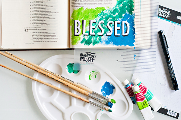 Tiffany Zajas | How to keep Bible art journaling simple | mixed media