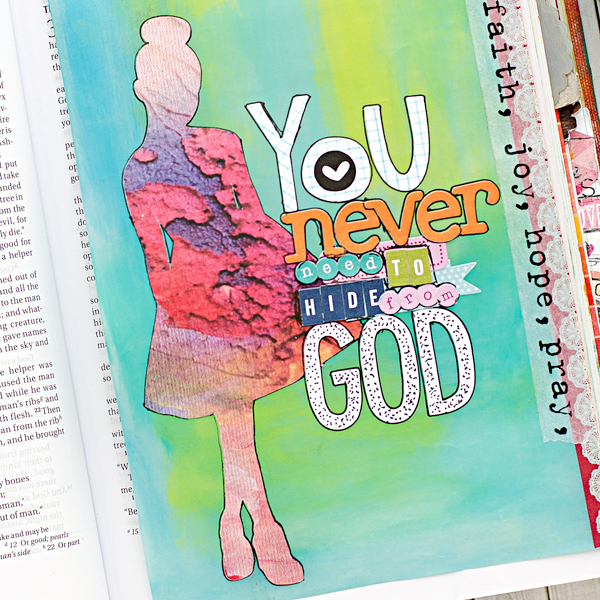 Heather Greenwood | You Never Need To Hide From God | mixed media art journaling bible and tutorial