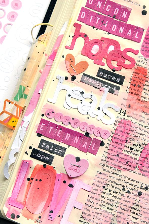 Ashley Horton | Mixed Media Art Journaling Bible | 1 Cor 13 | Love In Action!