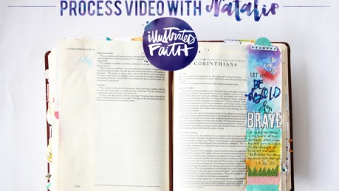 Natalie Elphinstone | Process video using glitter in your Bible tutorial