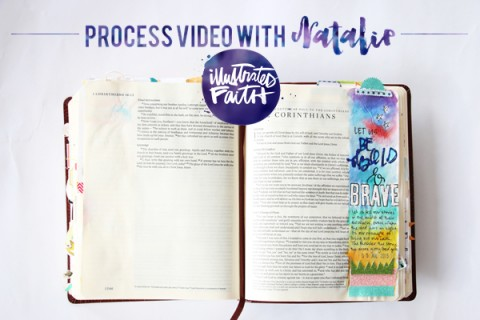 Natalie Elphinstone   Process video using glitter in your Bible tutorial