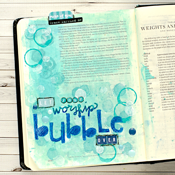 Heather Greenwood | Mixed Media Art Journaling Bubble Technique/Tutorial | Illustrated Faith Worship Culture Kit