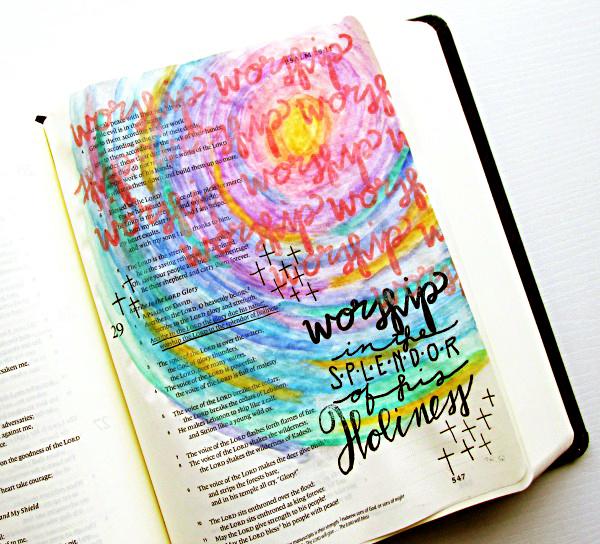 Tai Bender | Process Video | mixed media art journaling Bible | neocolor II crayons technique