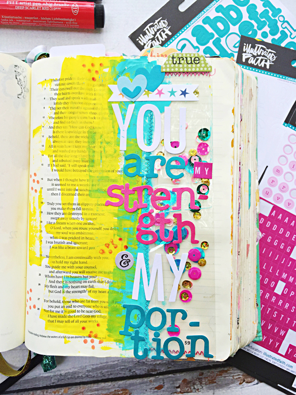 Janel MacLean   how to fix mistakes in your mixed media art journaling Bible