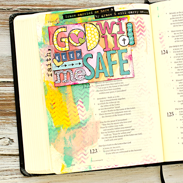 Heather Greenwood | Psalm 121 Mixed Media Art Journaling Bible | Illustrated Faith by Bella Blvd