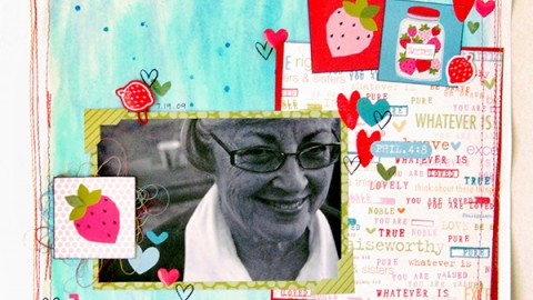 Elaine Davis | Be Sweet Scrapbook Page