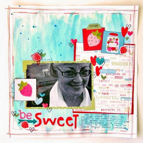 Elaine Davis | Be Sweet Scrapbook Page
