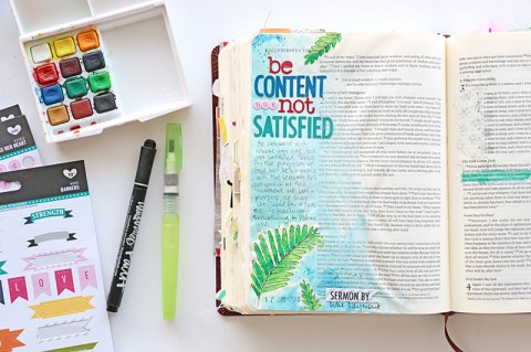 Putting the Journaling into Bible Journaling | Process Video