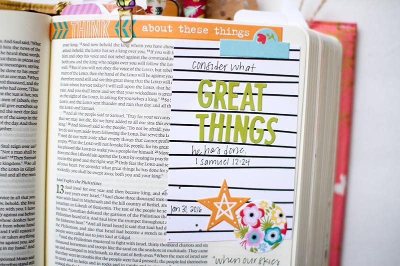 He Has Done Great Things | 1 Samuel 12:24 | Illustrated Faith Make It Count Devotional | Leah Van Ert