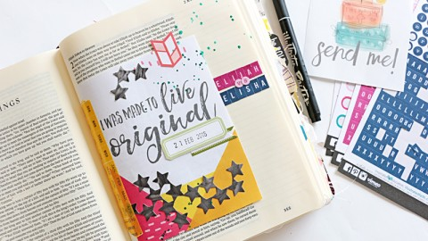 Using Printables in your Bible Journaling