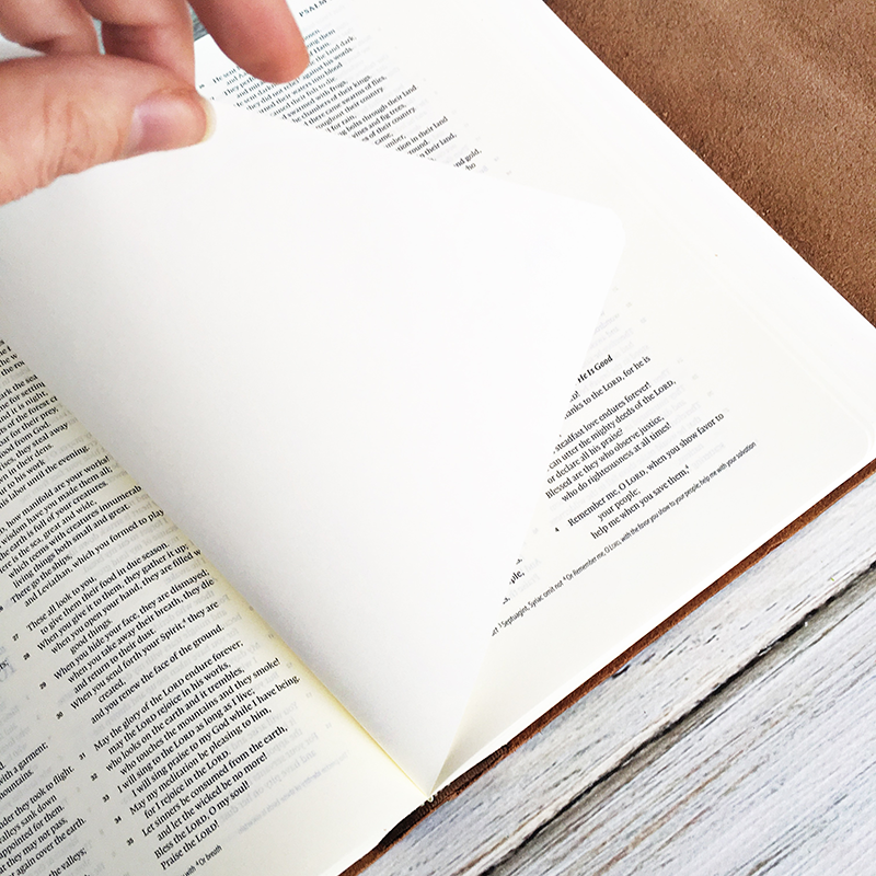 Heather Greenwood is comparing the ESV Interleaved Journalinng Bible with the ESV Single Column Journaling Bible