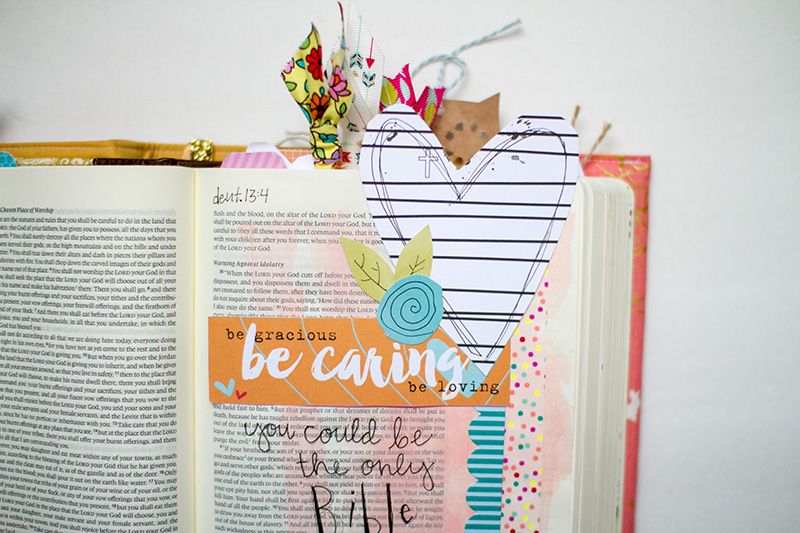 Leah Van Ert shares with us how much we need to be a light to others around us and sharing her mixed media art journaling Bible page   Illustrated Faith Whatever Is Lovely Collection   Illustrated Faith Make It Count devotional