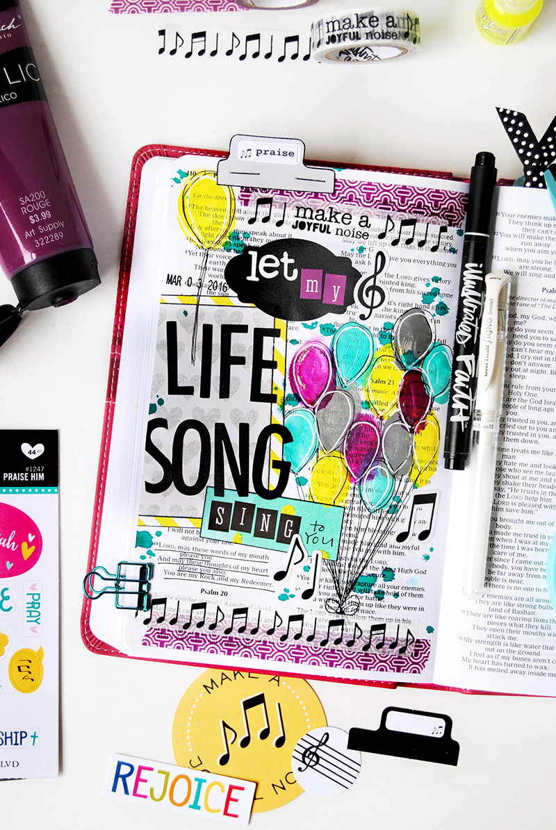 What do Casting Crowns and WWJD bracelets have in common and why did Elaine stop doing chores to illustrate her faith?   mixed media art journaling Bible