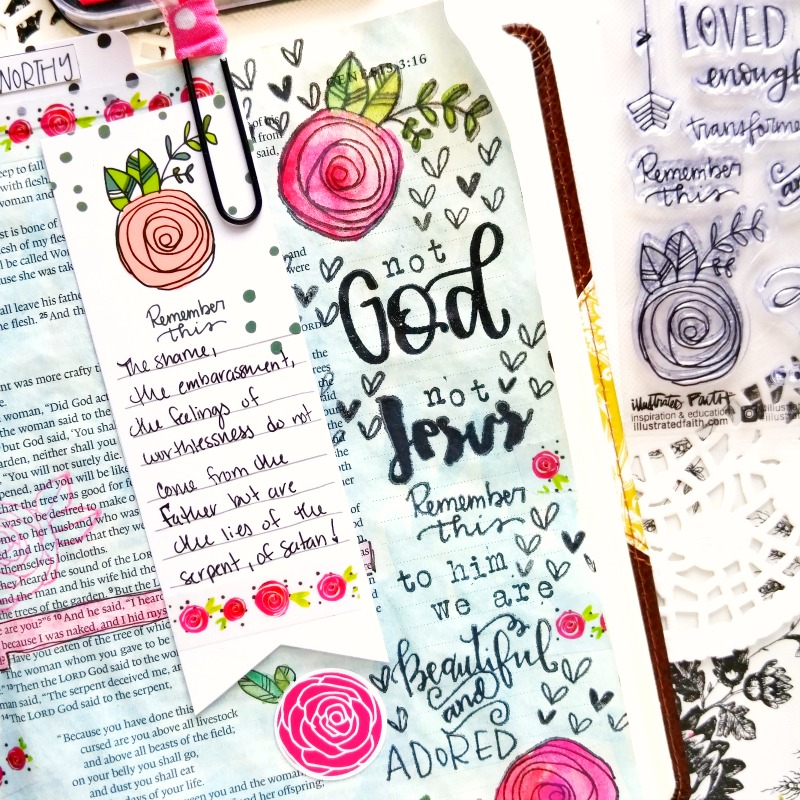 Amanda is sharing her testimony and how it relates to the Illustrated Faith Beautiful devotional by Valerie Wieners