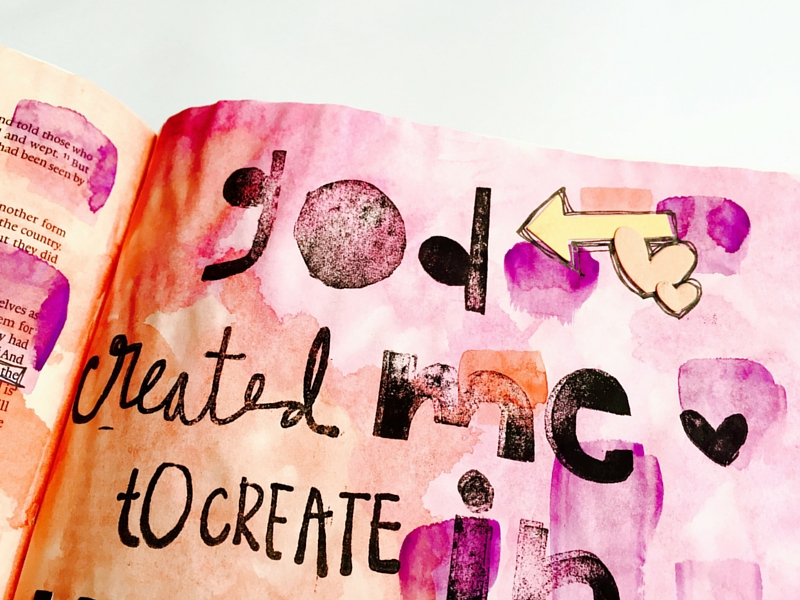 Tawni is sharing with us why it's important to share our faith and how we are illustrating our faith and skipping around the Illustrated Faith Created to Create devotional in her Journaling Bible
