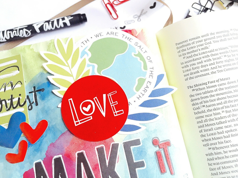 Tawni is walking us through her mixed media watercolor Bible journaling pages as she goes through the Illustrated Faith Created to Create Devotional