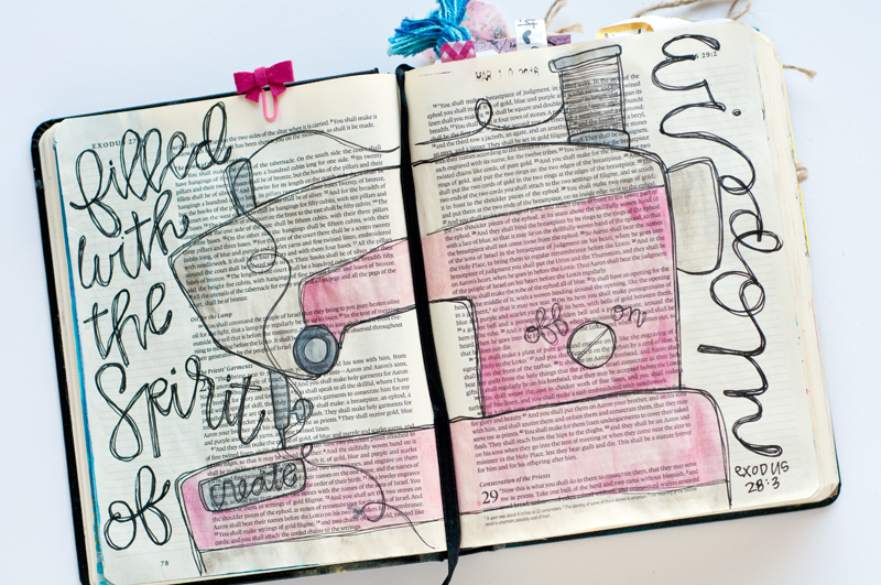 Jess Robyn shares her heart for being gifted to create and then a step by step tutorial for her handwriting and illustrations