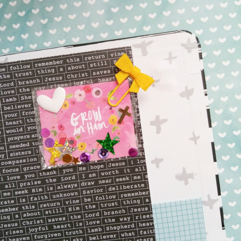 Amanda Cabrera is sharing a tutorial on how to make a shaker card with us for our journaling Bible using the new Illustrated Faith She Blooms collection