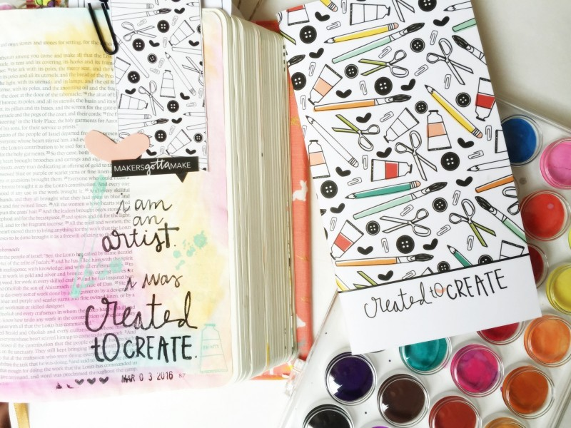 Leah Van Ert is encouraging us to dive head first into being creative and see where it takes you | Illustrated Faith Created to Create | Bible art journaling