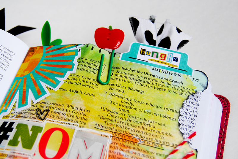 """Elaine is inspired by the Illustrated Faith Print & Pray """"Hungry"""" printables and taking a bite out of the Word 