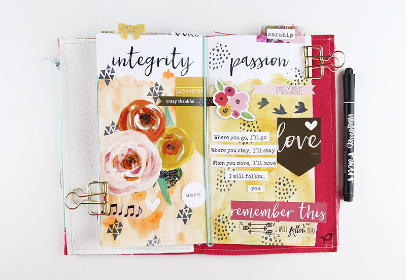 song journal entry by @gina_lideros @illustratedfaith Wild Love Printables