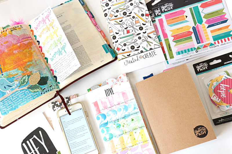 process video with 8 Bible Journaling kick starters and prompts to get you started when you're stumped for what to do