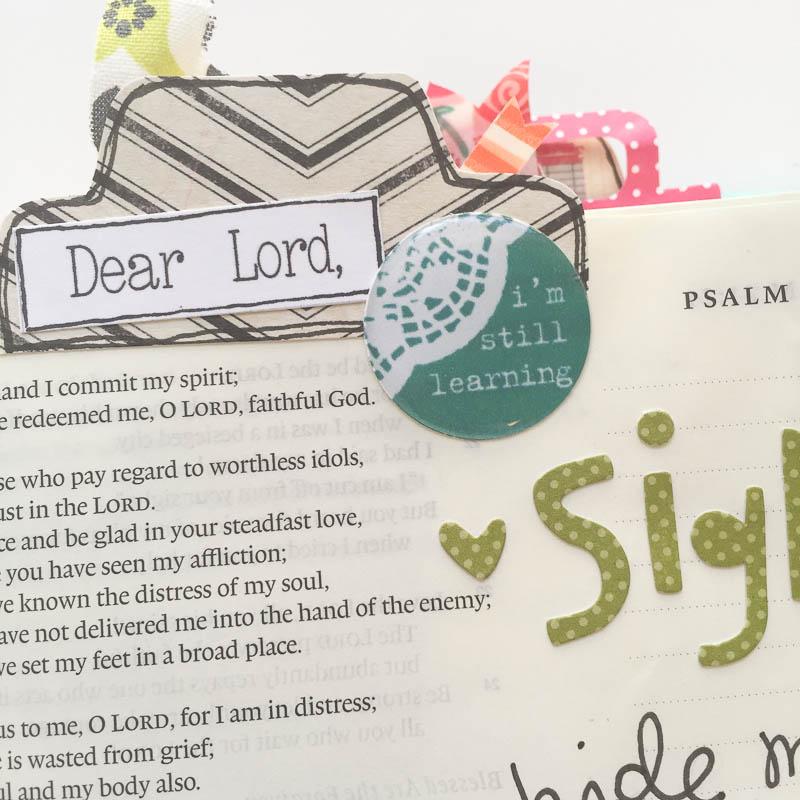 mixed media art journaling Bible  by Bekah Blankenship | Psalm 31