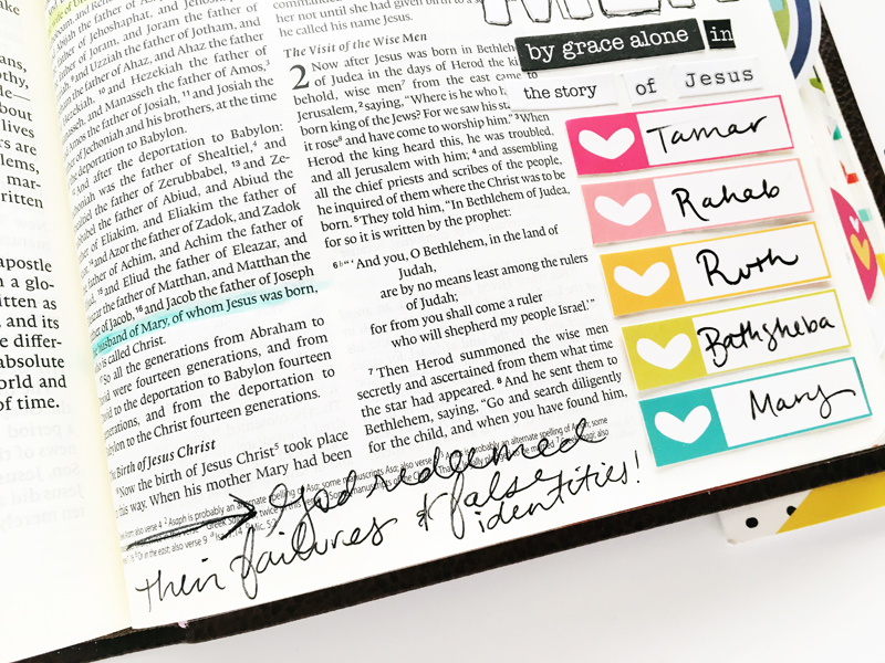 Bailey Jean Robert is listing her favorite women of the Bible and talking  about their redeeming story | Illustrated Faith Lists by Faith Kit and ESV Journaling Bible