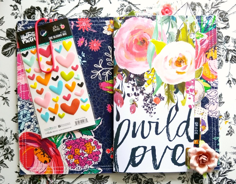 mixed media art journal reminding us to do it for the process by Amanda Cabrera   Illustrated Faith Print Pray Journal Wild Love Kit   Illustrated Faith by Bella Blvd