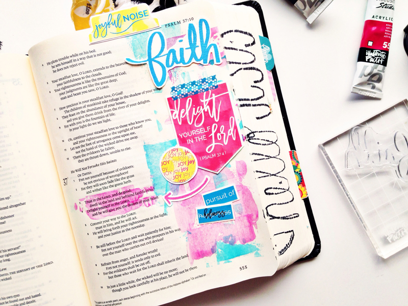 process video based on Psalm 37:4 and inspired by the Follow Your Arrow workshop and Joyful Noise printables