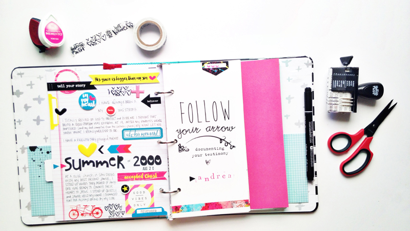 process video by Andrea Gray | Illustrated Faith Follow Your Arrow Workshop | Illustrated Faith by Bella Blvd Praise Book