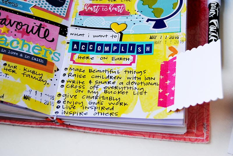 mixed media hybrid art faith journaling and listing by Elaine Davis   Lists by Faith featuring Cori Spieker