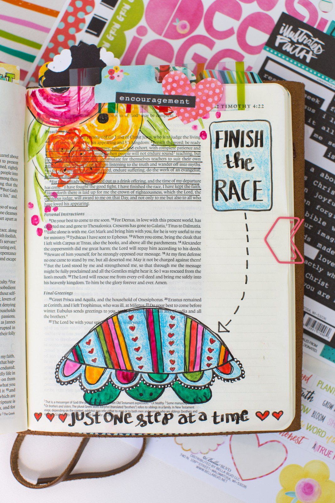 step by step drawing and watercolor process and tutorial for creating this tutorial and drawing inspiration from the She Blooms collection | Finish The Race - 2 Timothy 4:6 by Amy Bruce
