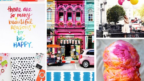 """May Artist Mood Board: """"Happy Place"""""""