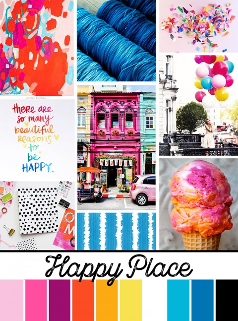 "May Artist Mood Board: ""Happy Place"""