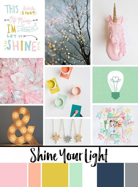 "June Artist Mood Board: ""Shine Your Light"""