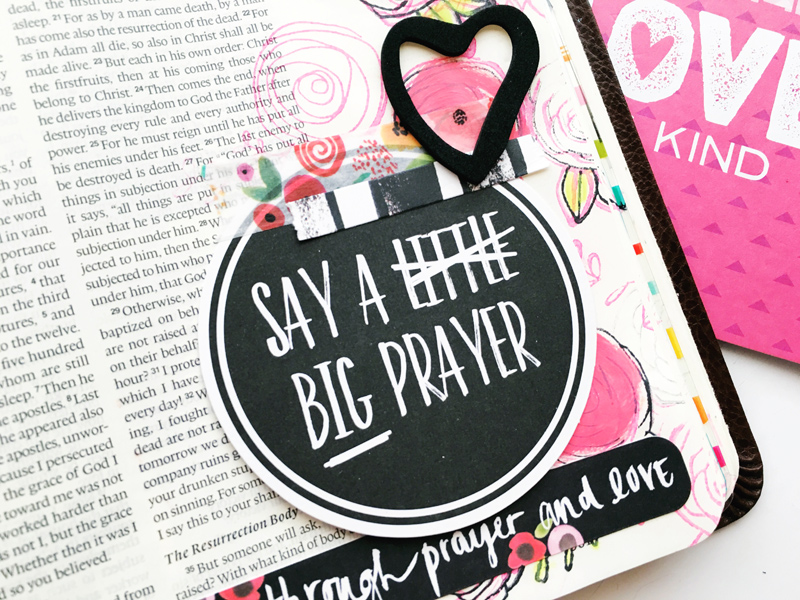 Bailey Jean Roberts shares about blooming in our faith and this mixed media art journaling Bible page | Illustrated Faith Beautiful Devotional Kit | Illustrated Faith by Bella Blvd