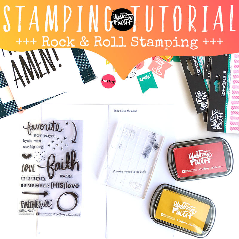 Rock and Roll Stamping step by step tutorial to achieve a ombre effect with your stamps by Heather Greenwood