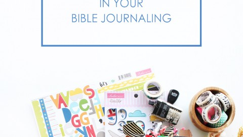 5 tips for using your favorite scrapbook supplies in your bible journaling!