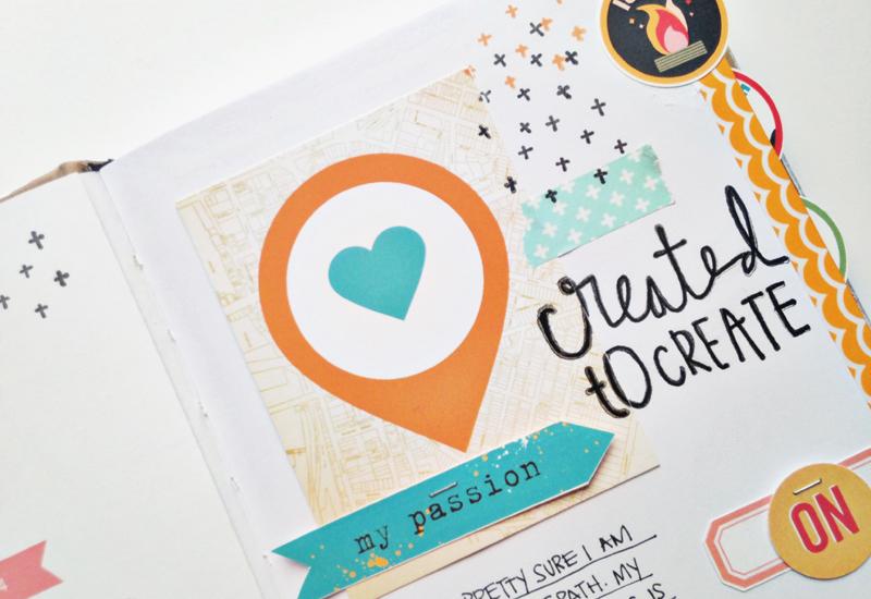 mixed media faith art journaling process video by Andrea Gray | Illustrated Faith Revival Camp: Ignite