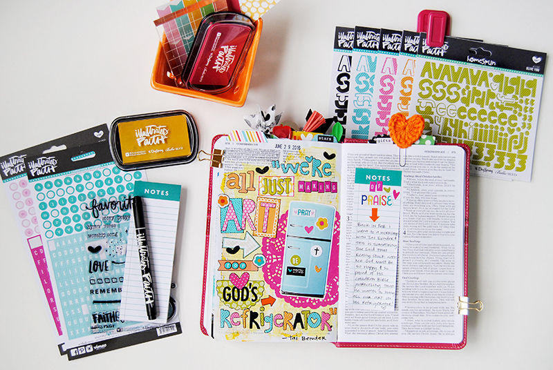 mixed media art Bible journaling by Elaine Davis | making art for God's refrigerator